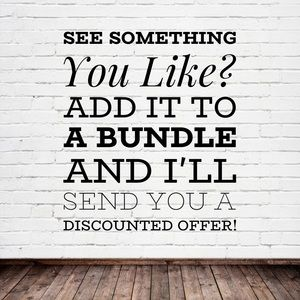 Add your liked items to a bundle!